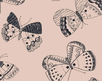 EXTRA 20 30% OFF  Whisper by Victoria Johnson for Windham Fabrics Pink Butterfly
