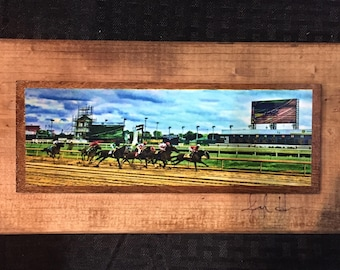 And They're Off Derby Wooden Art