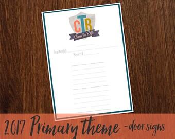 2017 Primary Theme Door Signs