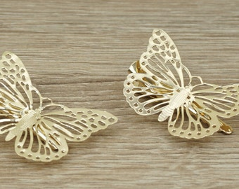 Butterfly hair pins, gold bobby pins, woodland hair pins, butterfly hair accessories, butterfly bobby pins, Woodland bobby pins, Hair Clip