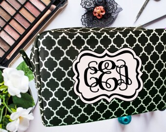 Mother's Day Gift, Makeup Bag, Cosmetic Bag, Personalized Makeup Bag, Bridesmaid Gift, Wedding Party Gift, Monogrammed Makeup Bag,
