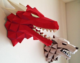 Game of Thrones GOT Dragon Drogon Targaryen DIY papercraft