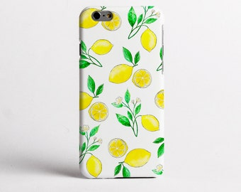 Summer Lemons case design for iPhone Cases, Samsung Cases, One Plus 5 and Google Pixel Cases