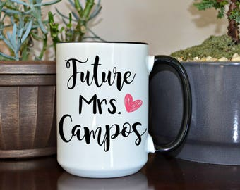 Home and Living, Kitchen and Dining, drink and barware, drinkware, mugs, engagement, gift for her, bride to be gift, custom mugs