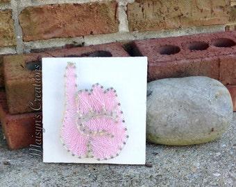 Pinkies Up String Art