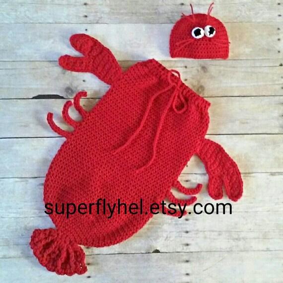 Lobster Costume Lobster Cocoon Set Lobster Baby Lobster