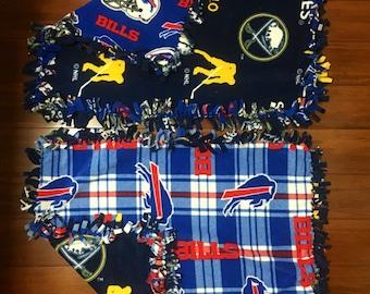 """Buffalo teams / fleece baby blankets / 20"""" x 26"""" / 3 of plaid"""