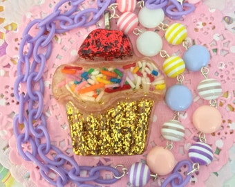 Kawaii Cupcake Necklace