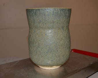 Dark green handmade vase/planter