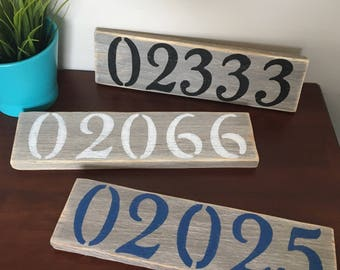 Driftwood Zip Code Sign