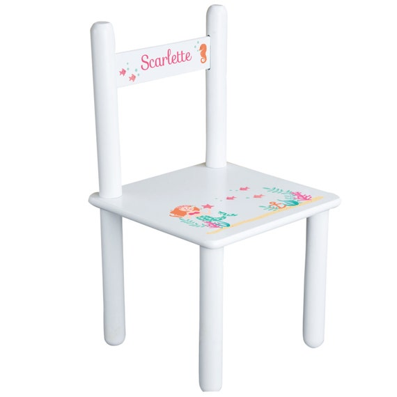 Personalized Little Mermaid Table & Chair Set Little Girls