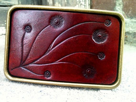 Oxblood VIne Leather Buckle