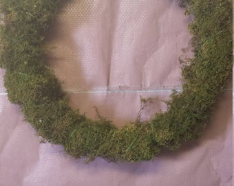 Preserved, dried, Moss Wreath, Woodland Wreaath, Rustic Wedding Wreath, Natural Wreath