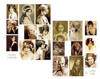 Perfect Portraits digital collage set