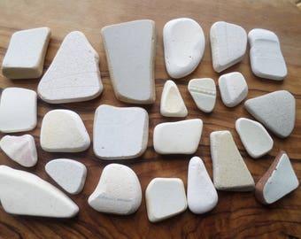 23 Shards of English Beach/Sea Pottery from the Northumberland Coast, Craft, Pottery Shards, Beach Pottery, Mosaic, Beach Finds, Sea Pottery