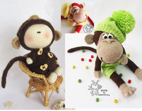 Amigurumi Monkey Patterns : Toys monkey knitting patterns sale buy get free amigurumi