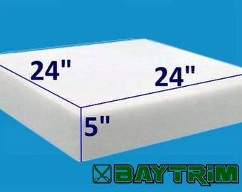 "5"" x 24"" x 24"" BayTrim High Density Upholstery Foam Cushion (1844)(Upholstery Sheet , Foam Padding)"
