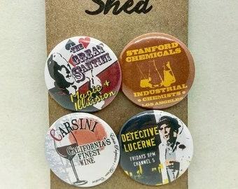 Columbo - TV Classic Villains - 4 pin button badge set