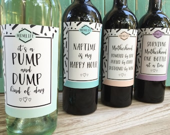 Mom Wine Labels, New Mom Gift, Mom Truths, Mom Life, Mommin Aint