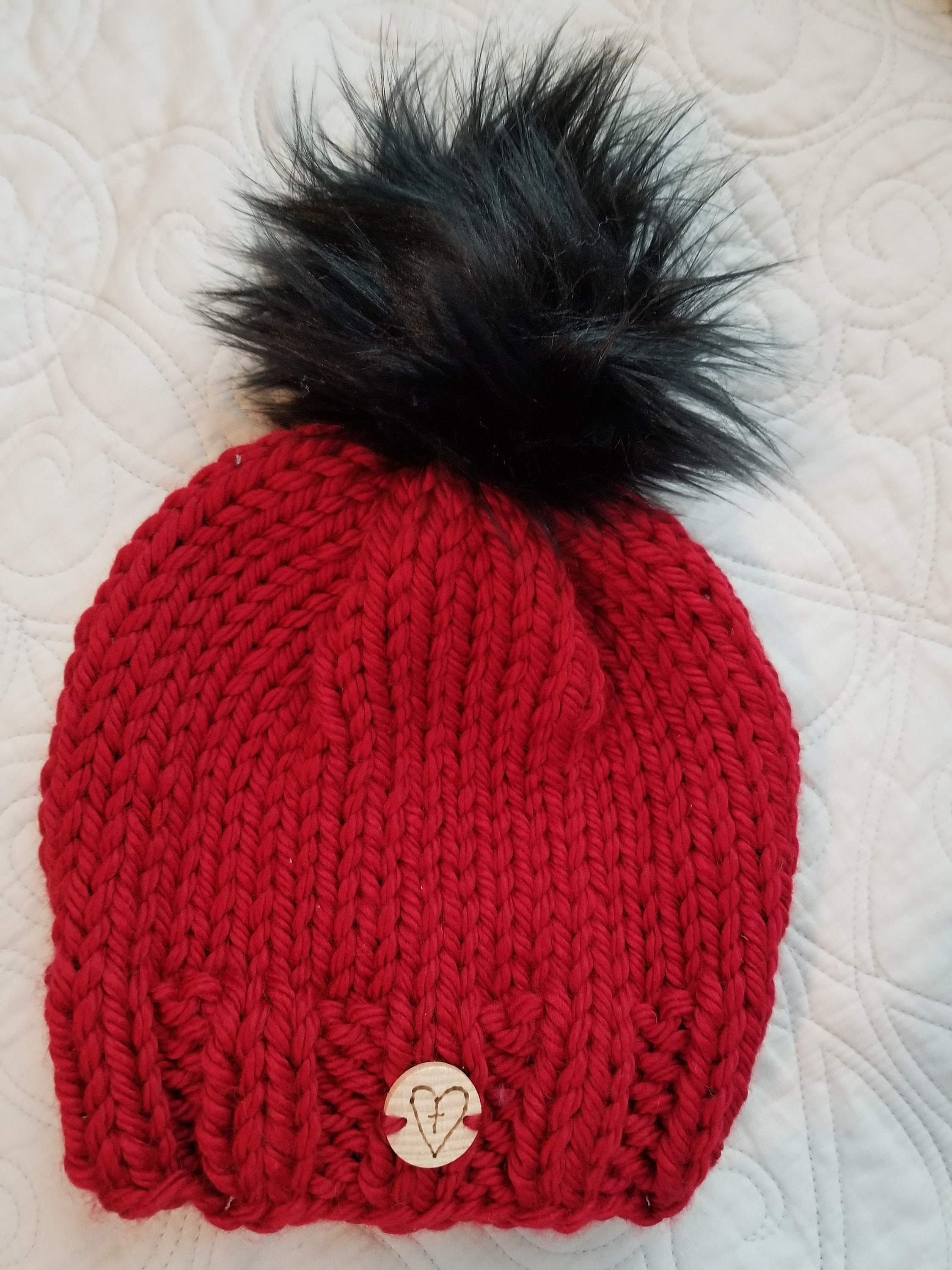 Red pom hat with various poms loving lids giving back jpg 2250x3000 Lids  beanies with pom 66310bc11f0b