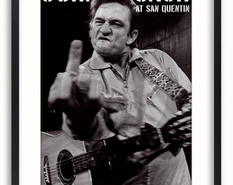 Johnny Cash - At San Quentin - GB Eye Licensed Poster