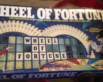 Vintage (1985) Pressman Toy Corp. TV Game Show Wheel Of Fortune 2nd Edition Board Game.  Great condition.  100% Complete.