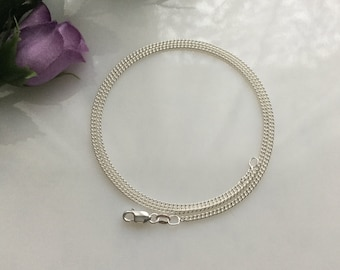 18 Inch Silver Filled Curb Chain Necklace, Jewelry Supply