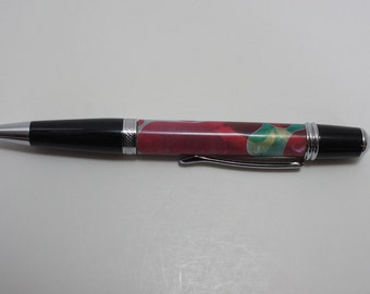 pen, ballpoint, acrylic, chrome