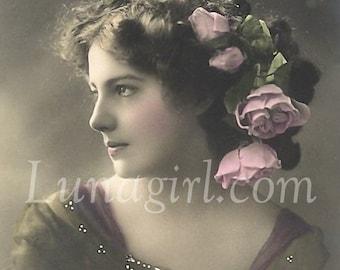 1000 LADIES VINTAGE Photos, Victorian Edwardian women, showgirls flappers, vintage images postcards, altered art ephemera DOWNLOAD, vol 2