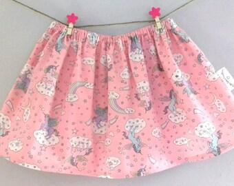 Girls Skirt, Toddler Skirt, Twirl Skirt, Unicorn Skirt, Child Skirt, Age 2 Years