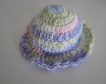 Crochet sunhat, summer hat, summer sunhat, baby crochet hat, baby hat, baby sunhat, sunhat for baby, crochet hat, pastel summer hat,