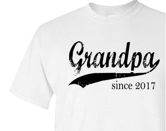 Grandpa since ANY year personalized tee, gifts for men, Father's Day gift, grandfather gift, papa shirt, custom screen print shirt