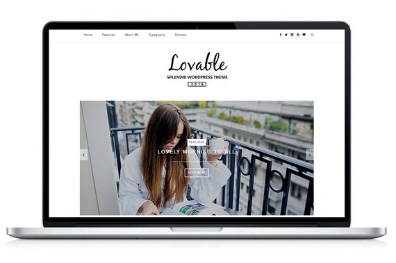Lovable Clean Responsive Wordpress Theme Blog Template