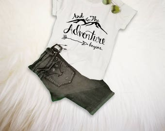 Adventure Shirt Womens Hiking Camping Shirt Travel TShirt Vacation Shirt Clothes Mountains Tee Shirt Adventure Gift for her him