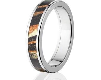 New Mossy Oak Shadowgrass Camouflage Wedding Band Custom Camo Wedding Ring Mossy Oak Camo Pattern Jewelry Camo Ring : 5F_SHADOWGRASS