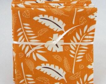 Cloth Beverage Napkins, Tropical Leaves, Tiki Bar, Set of 4 or 6, Appetizer Napkins, Eco-friendly, Hostess Gift, Wedding Shower Gift