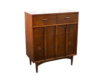 Mid-Century Modern Kroehler Danish Style Highboy Dresser