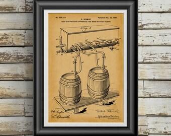 Whiskey Barrel Gift * Wine Barrel * Bourbon Barrel * Oak Barrels * Whiskey Barrel * Beer Barrel * Beer Lovers Gift * Patent Art PP 10110