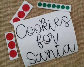 DIY Cookies for santa plate vinyl, Cookies for Santa Plate
