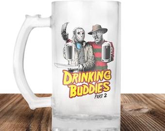 Freddy Krueger and Jason Voorhees Friday The 13th Freddy & Jason Drinking Buddies