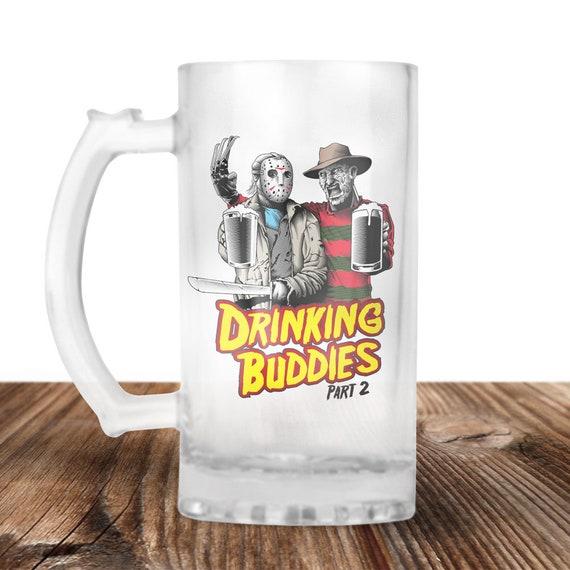 Freddy Krueger and Jason Voorhees Beer Stein- Friday The 13th - Halloween - Freddy and Jason Drinking Buddies - Beer Mug - Beer Lover Gift