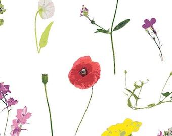 FABRIC by the yard, 1/2 Yard, Petal Picking Dainty, Lavish Collection by Katarina Roccella for Art Gallery Fabrics, 100% Premium Cotton