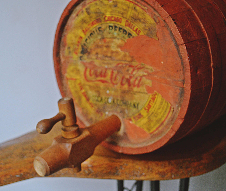 1920\'s-1930\'s Coca-Cola Syrup Barrel, Coca Cola Wood Keg With ...