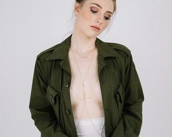 jacquie aiche style chain bra, 14k gold filled chain bralette, bra body chain, rose gold chain bra, silver chain bra, chain bikini