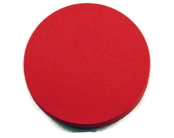 Two Inch Die Cut Paper Circles  2 inch Circles in  Red Quantity of 50