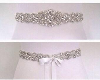 Bridal sash, bridal belt, wedding dress belt, wedding belt,Crystal Bridal sash, wedding dress belt sash