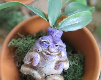 Handmade mandrake mini sculpture from The Veil inspired by Harry Potter