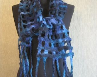 Felt Exclusive scarf of Very Popular All Over the World Kauni ( Aade Lõng) Estonian Artistic Wool Fine Handmade Gentle and easy women cape