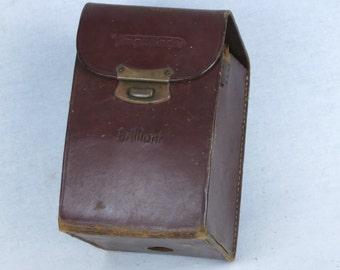 Voigtlander leather case for Brillant 6x6 camera, ca. 1937, Exc