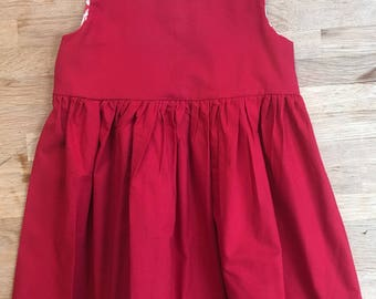 Girls' Vintage Style Little Red Dress